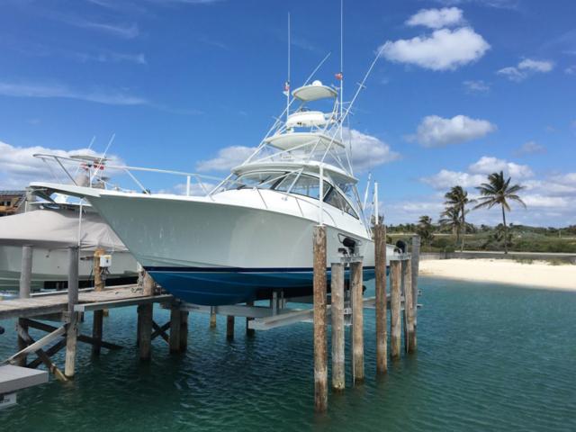 40K Custom 8 Post Yacht Lift w/ Cat Walk & Drop Down Stern Walk for 42' Viking
