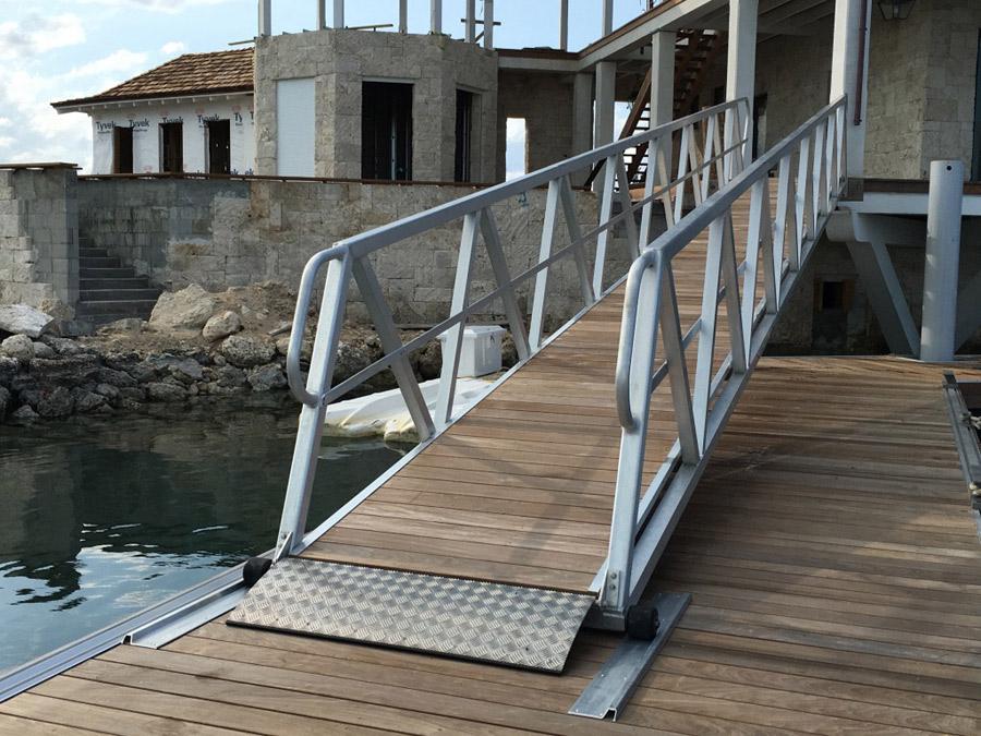 40 Foot Aluminum & Ipe Boarding Ramp